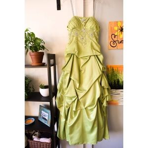 Green Ball Gown Worn Once